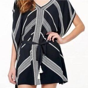 Stella Dot Black Tribal Print Beach Coverup Dress